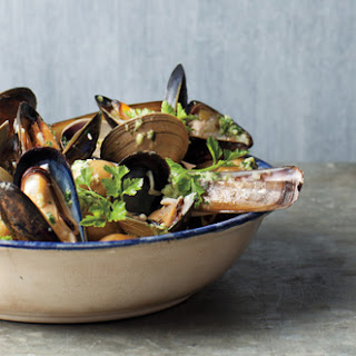 Shellfish and Potatoes à la Marinière.