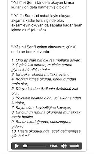 YASİN-İ ŞERİF SESLİ MP3 DİNLE