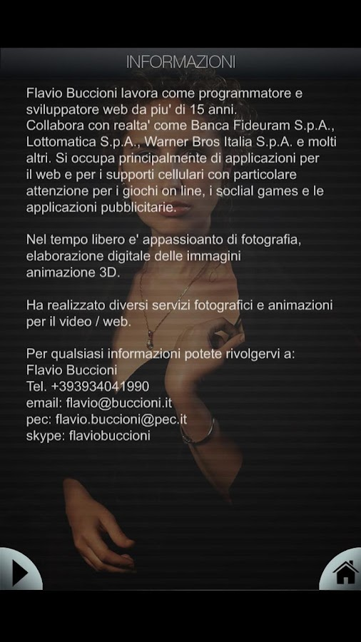 Flavio Buccioni Photo Book - screenshot