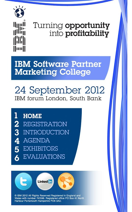 IBM Events - screenshot