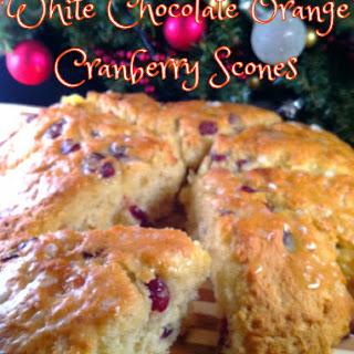 White Chocolate Orange Cranberry Scones