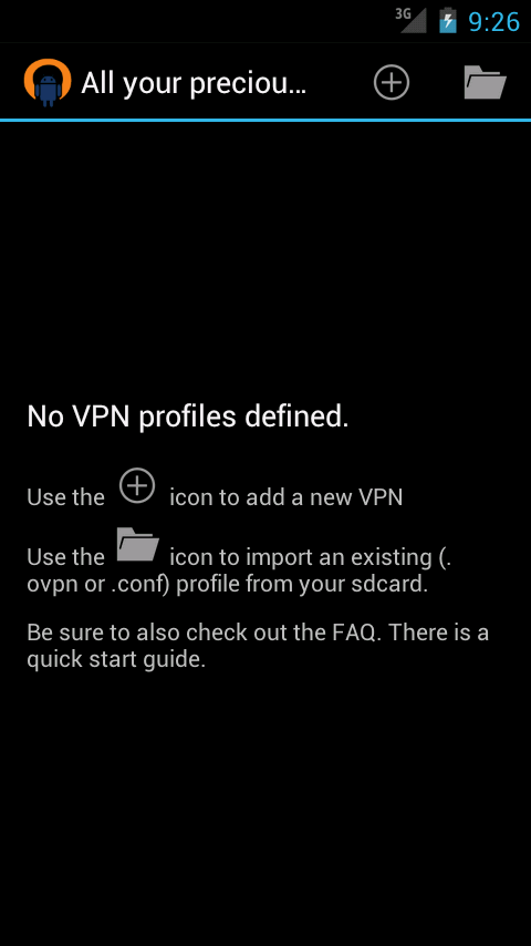 OpenVPN for Android - screenshot