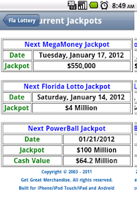 Florida Lottery Results screenshot 2