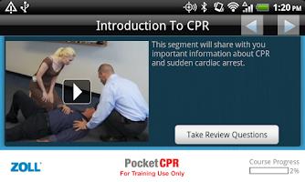 Screenshot of ZOLL PocketCPR