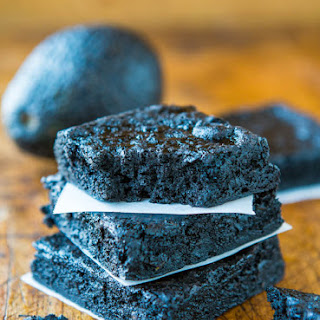 Healthy Dark Fudgy Avocado Brownies (gluten-free)