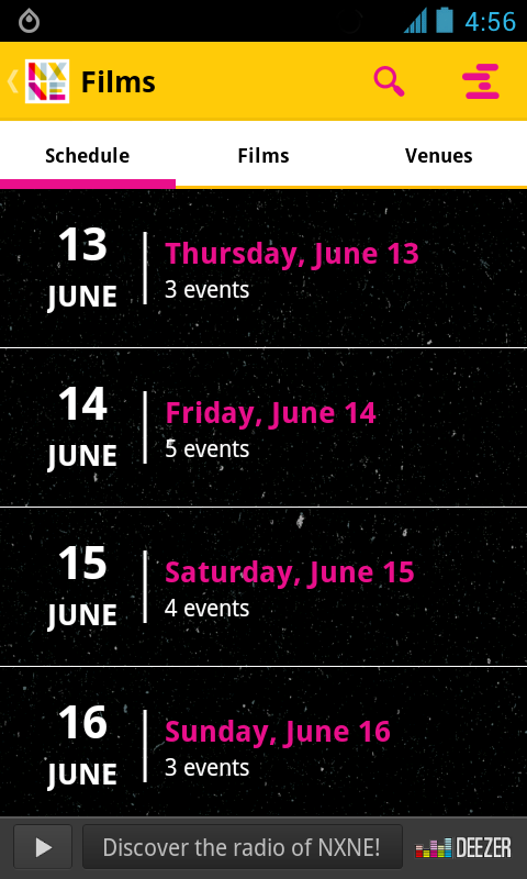 NXNE 2013 - screenshot