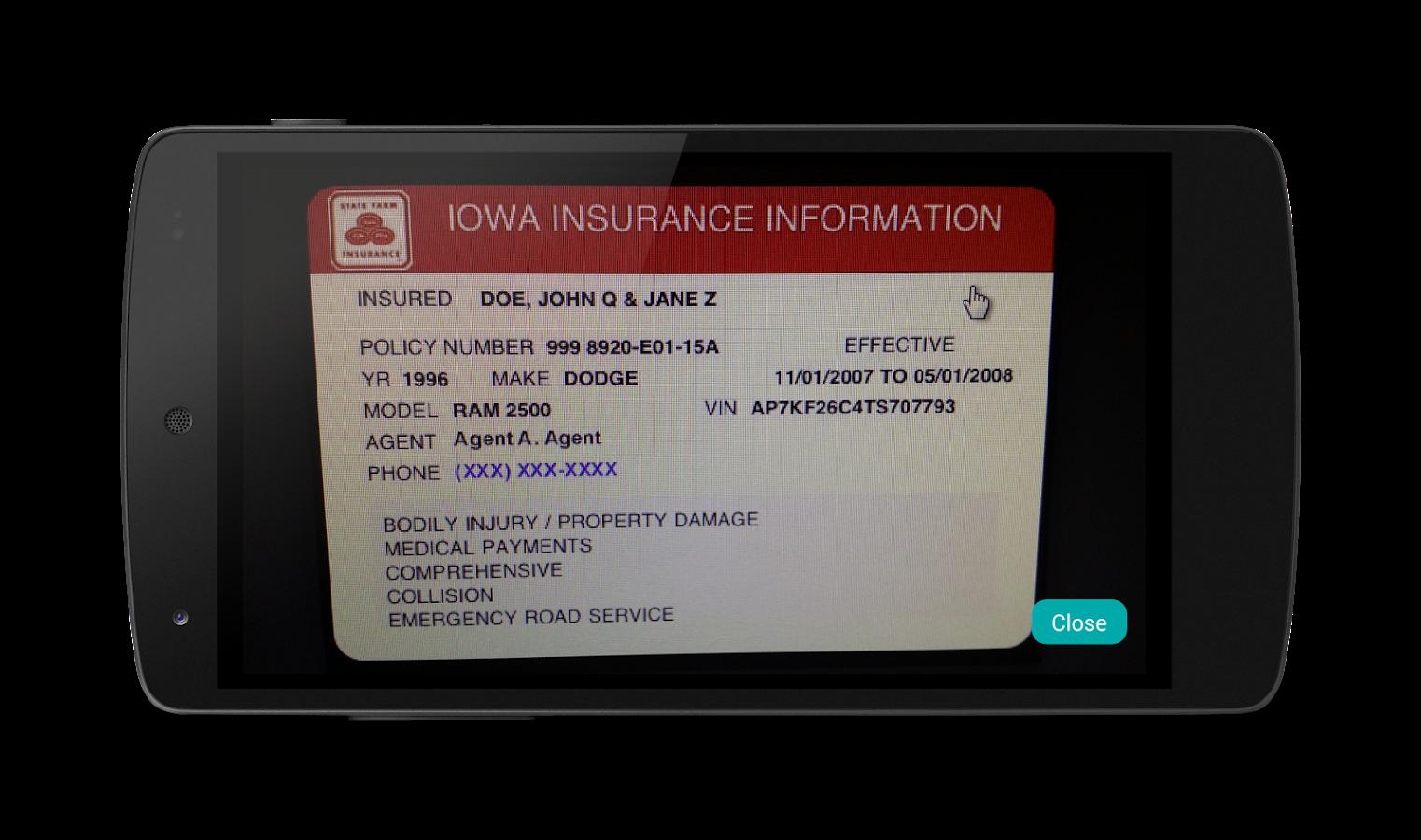 Geico Car Insurance Card