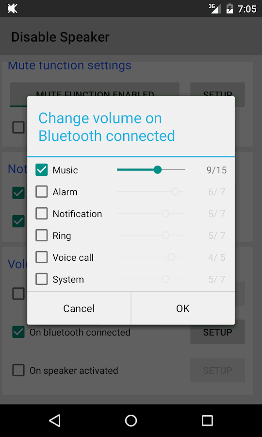 Disable Speaker- screenshot