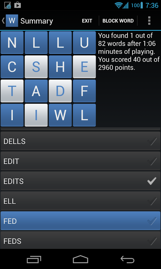 Wordplay- screenshot