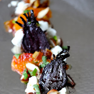 Caramelized Beets with Blood Orange, Date, and Mint Salad