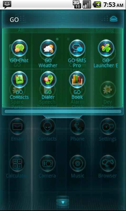 Blux Eve Theme GO Launcher EX - screenshot