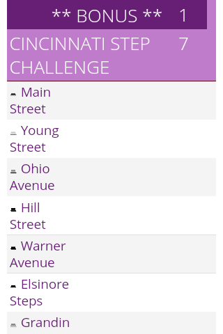 Cincinnati Hill Challenge- screenshot