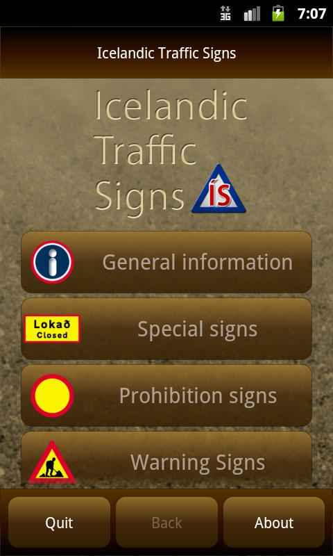 Icelandic Traffic Signs- screenshot
