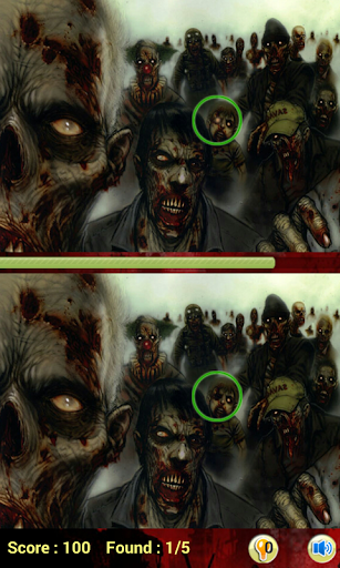 【免費解謎App】Zombie find the differences-APP點子