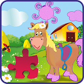 Puzzles on the farm (for kids)