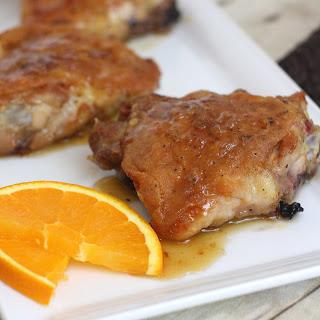 Orange-Honey Glazed Chicken Thighs.