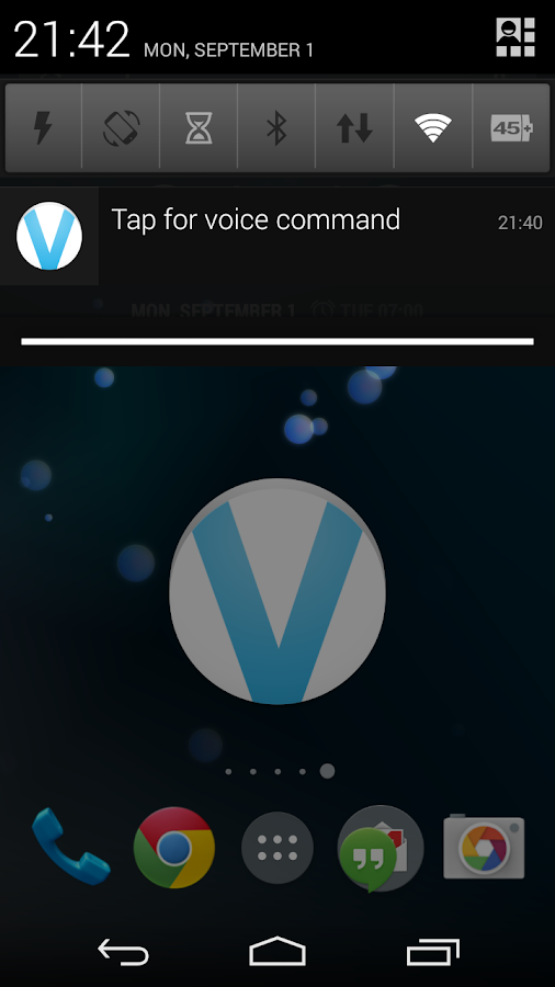 myVoice - Voice commands- screenshot