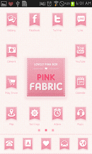 PINK FABRIC icon theme - screenshot thumbnail