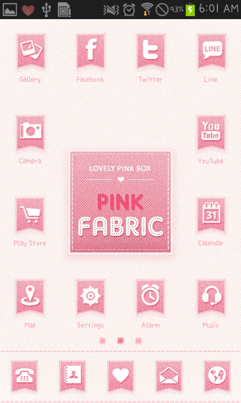 PINK FABRIC icon theme - screenshot