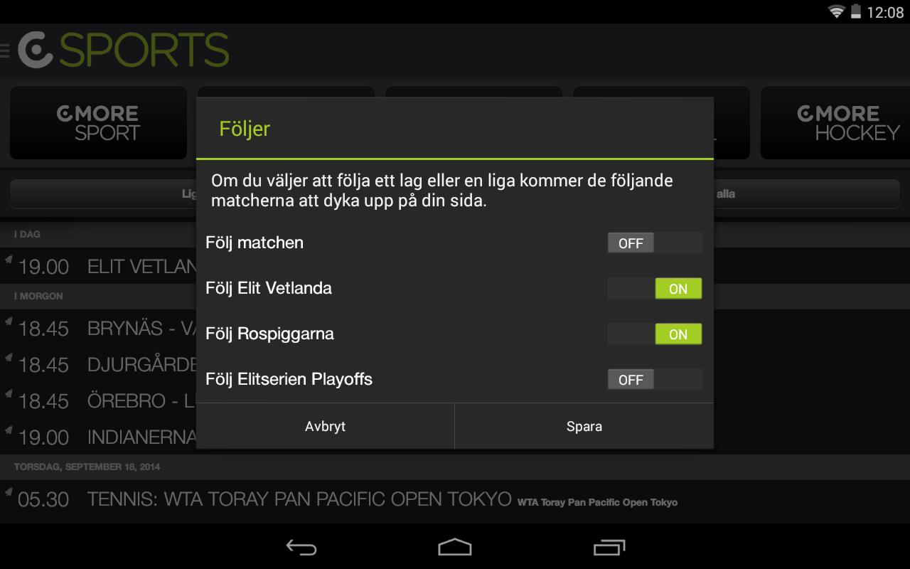CSports - screenshot