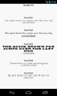Fonts for FlipFont 152