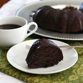 Chocolate Zucchini Bundt Cake - Low Carb and Gluten-Free.