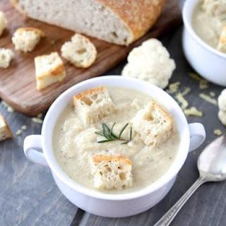 Roasted Cauliflower & Cheddar Soup