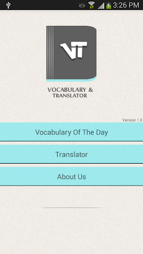 Vocabulary Daily Translator
