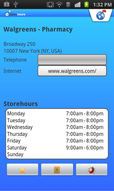 Store Hours - screenshot