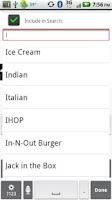 Screenshot of Restaurants
