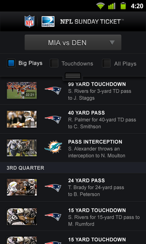 NFL Sunday Ticket- screenshot
