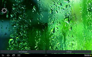 Screenshot of Green Rain Droplets LWP
