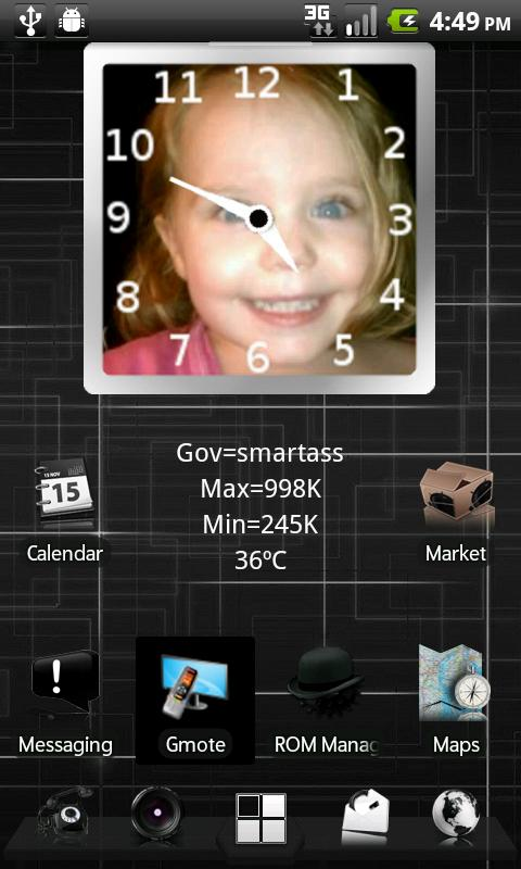 PhotoFrame Clock - screenshot