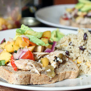 Slow Cooked Chicken with Roasted New Mexico Green Chiles.