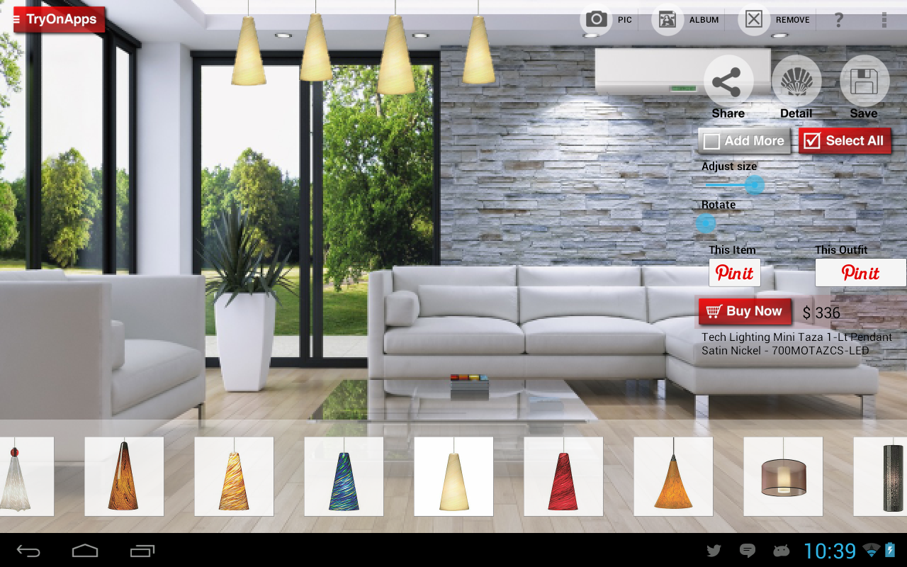Virtual decor interior design android apps on google play for Interior design shopping app