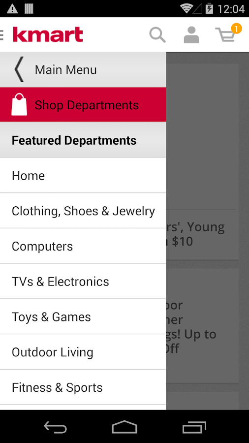 Kmart - screenshot