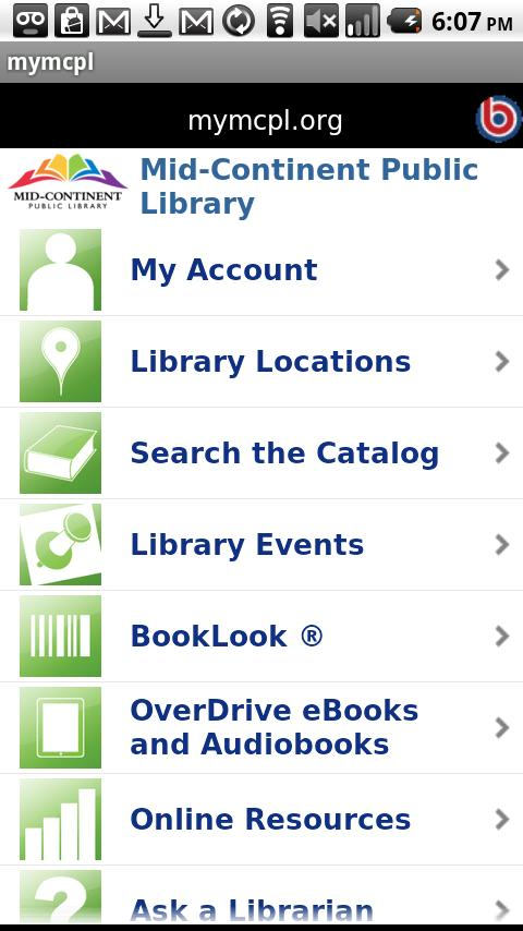 Mid-Continent Public Library- screenshot