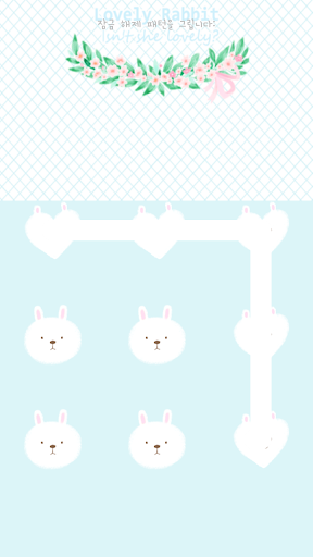Lovely rabbit protector theme