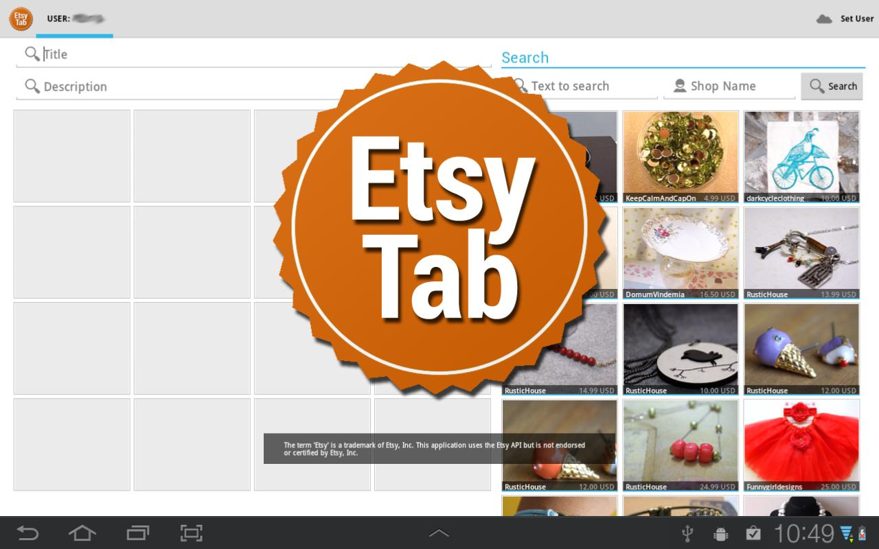 EtsyTab - screenshot