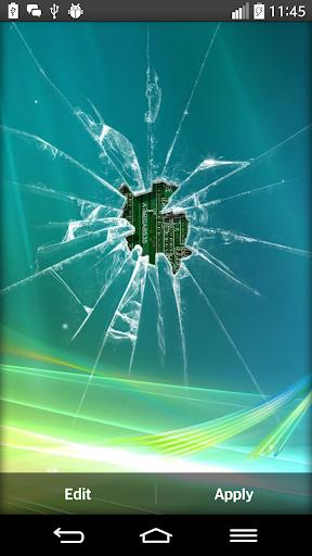 碎玻璃的動態壁紙
