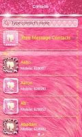 Screenshot of GO SMS PRO LUXURY PINK THEME
