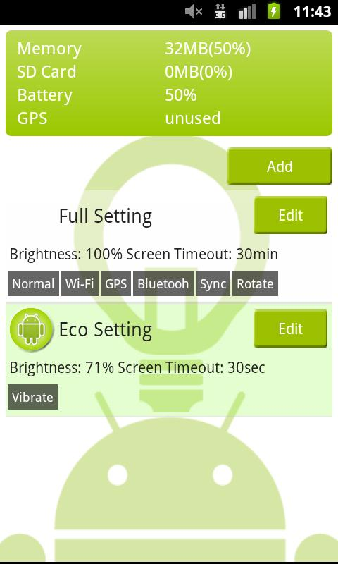 Power Saving - screenshot