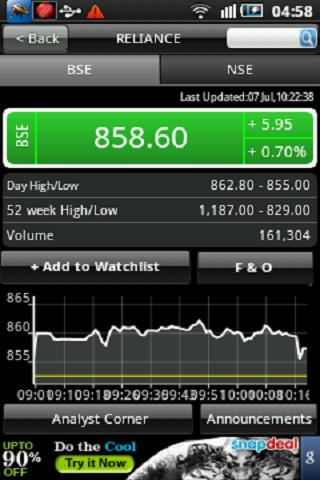 Stock Watch: BSE / NSE- screenshot