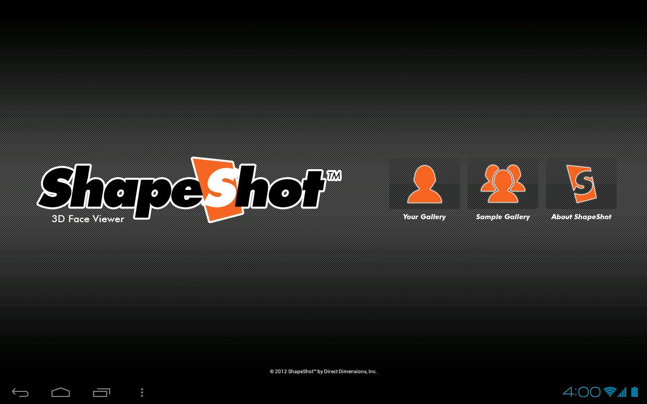 ShapeShot 3D Face Viewer - screenshot