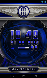 Digi Clock Widget Blue Saphir APK screenshot thumbnail 2