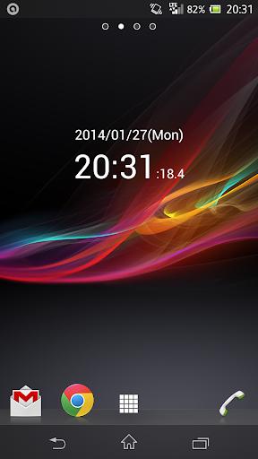 0.1秒デジタル時計ウィジェット