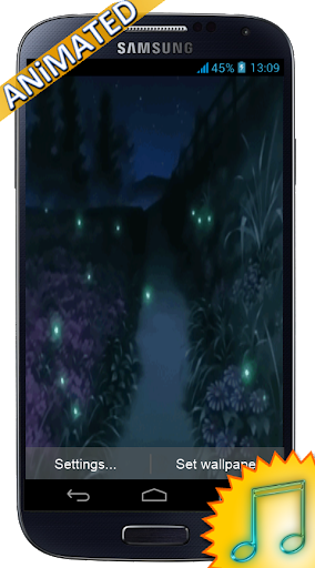 Fireflies animation Wallpaper