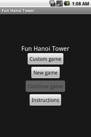 Fun Hanoi Tower - screenshot