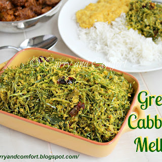 Green Cabbage Mellun Curry.