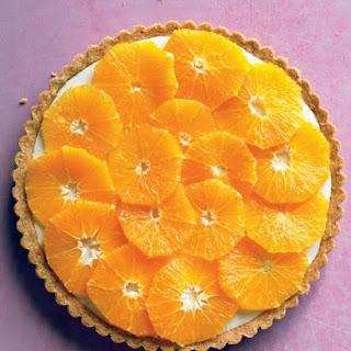 Fresh Orange and Yogurt Tart.